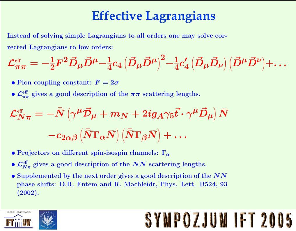 Jacek Dobaczewski Effective Lagrangians