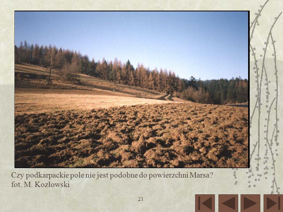 21 Czy podkarpackie pole nie jest podobne do powierzchni Marsa? fot. M. Kozłowski