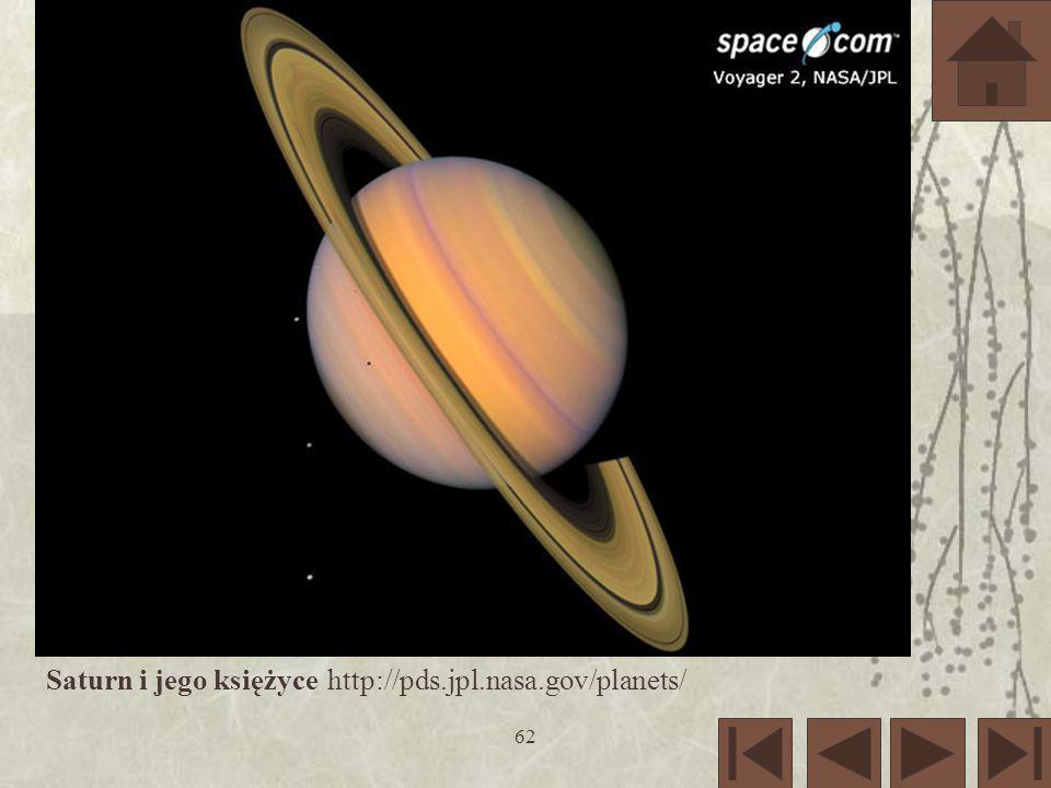 62 Saturn i jego księżyce http://pds.jpl.nasa.gov/planets/