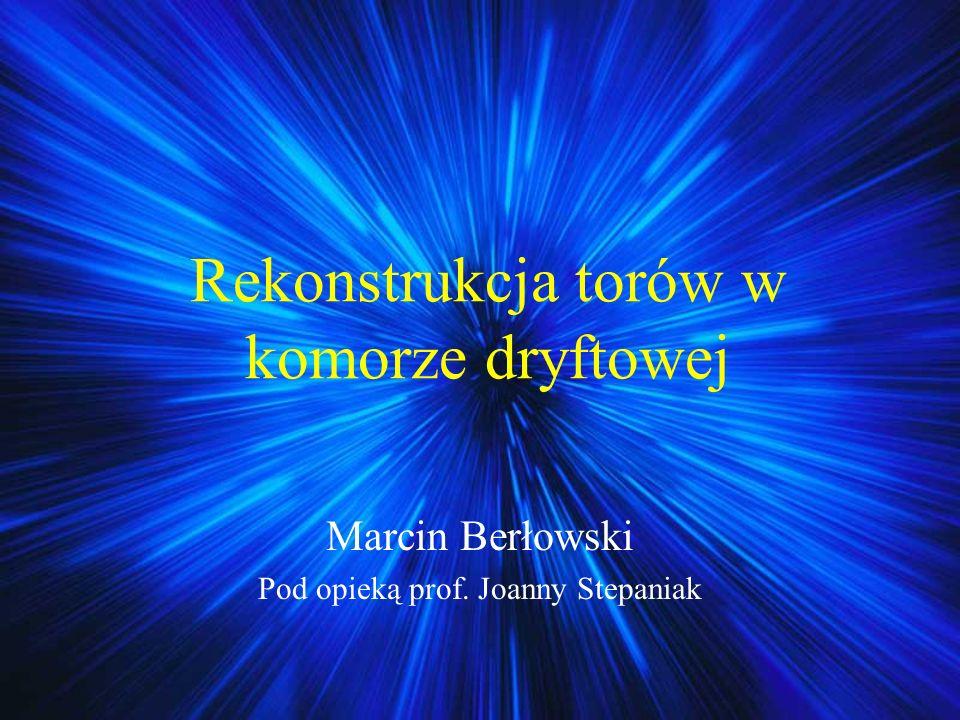 Rekonstrukcja torów w komorze dryftowej Marcin Berłowski Pod opieką prof. Joanny Stepaniak