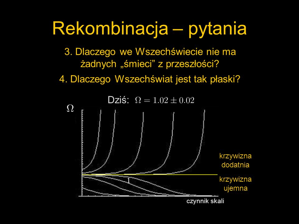 7.Co składa się na pozostałą energię Wszechświata.