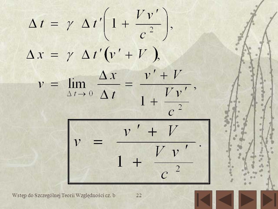 Wstęp do Szczególnej Teorii Względności cz. b22