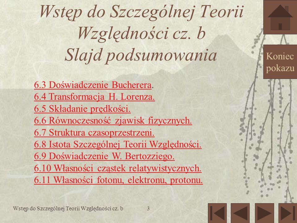 Wstęp do Szczególnej Teorii Względności cz. b24