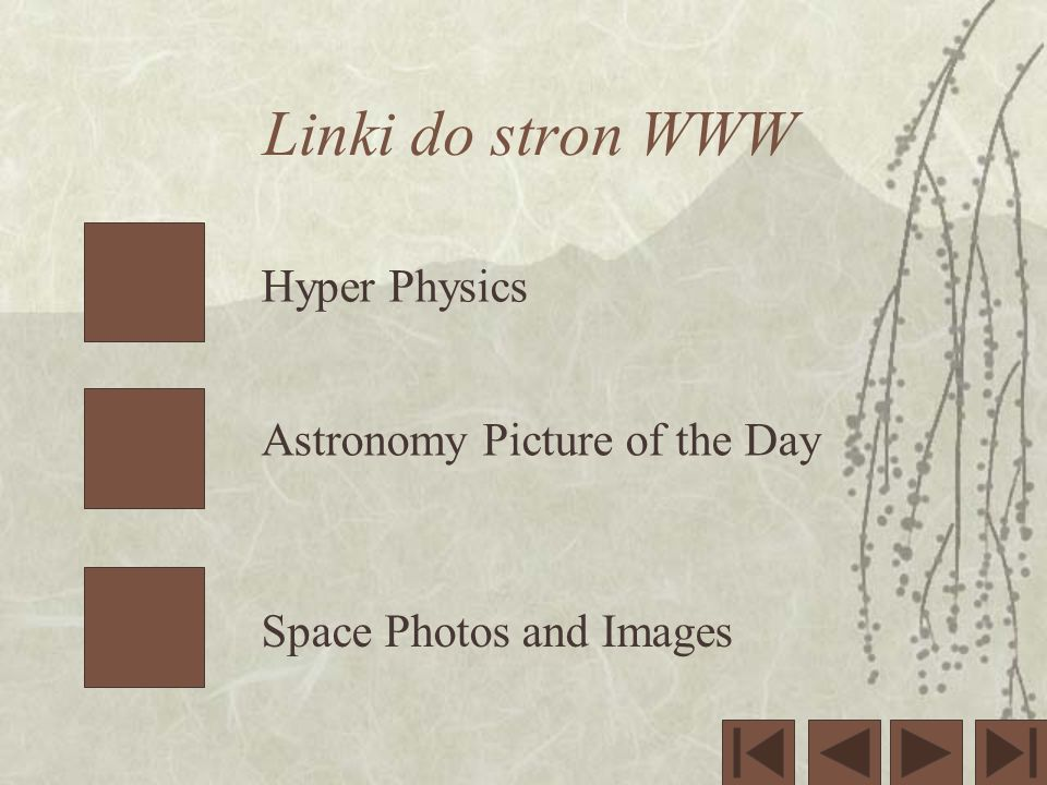 Linki do stron WWW Hyper Physics Astronomy Picture of the Day Space Photos and Images