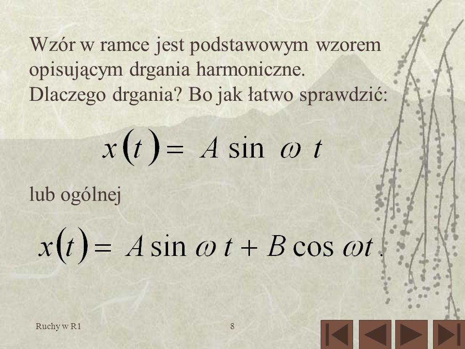 Ruchy w R18 lub ogólnej Wzór w ramce jest podstawowym wzorem opisującym drgania harmoniczne.