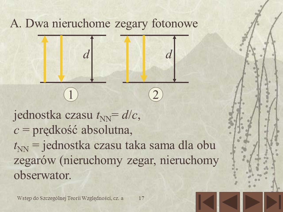 Wstęp do Szczególnej Teorii Względności, cz. a17 A.