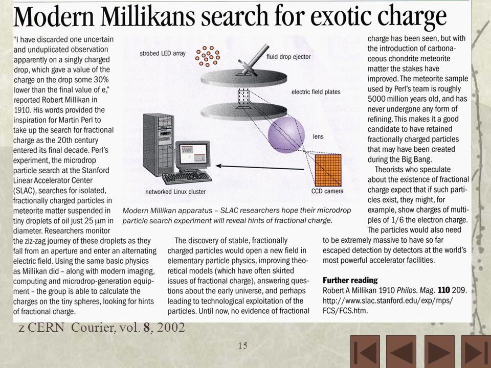 15 z CERN Courier, vol. 8, 2002