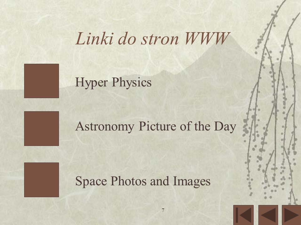7 Linki do stron WWW Hyper Physics Astronomy Picture of the Day Space Photos and Images