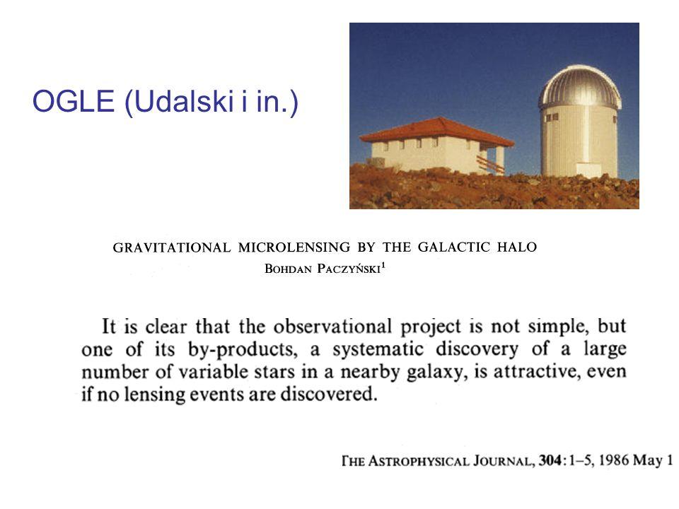 Zależność Okres-Jasność z danych OGLE (Udalski i in., 1999) Gwiazdy pulsujące jako świece standardowe