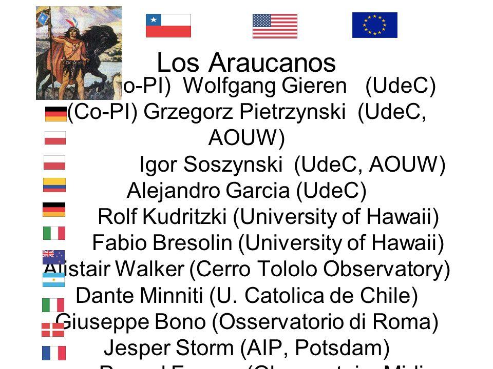 Los Araucanos (Co-PI) Wolfgang Gieren (UdeC) (Co-PI) Grzegorz Pietrzynski (UdeC, AOUW) Igor Soszynski (UdeC, AOUW) Alejandro Garcia (UdeC) Rolf Kudrit