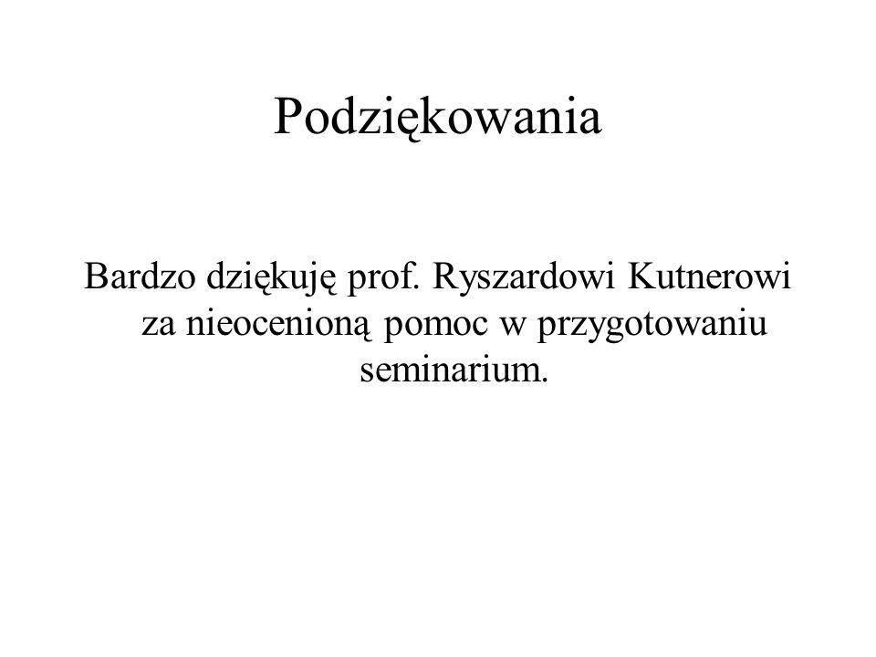Podziękowania Bardzo dziękuję prof.