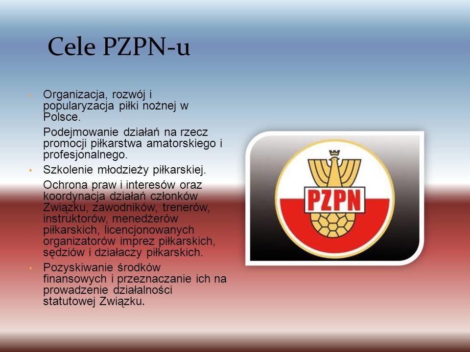 Organizacja, rozwój i popularyzacja piłki nożnej w Polsce.