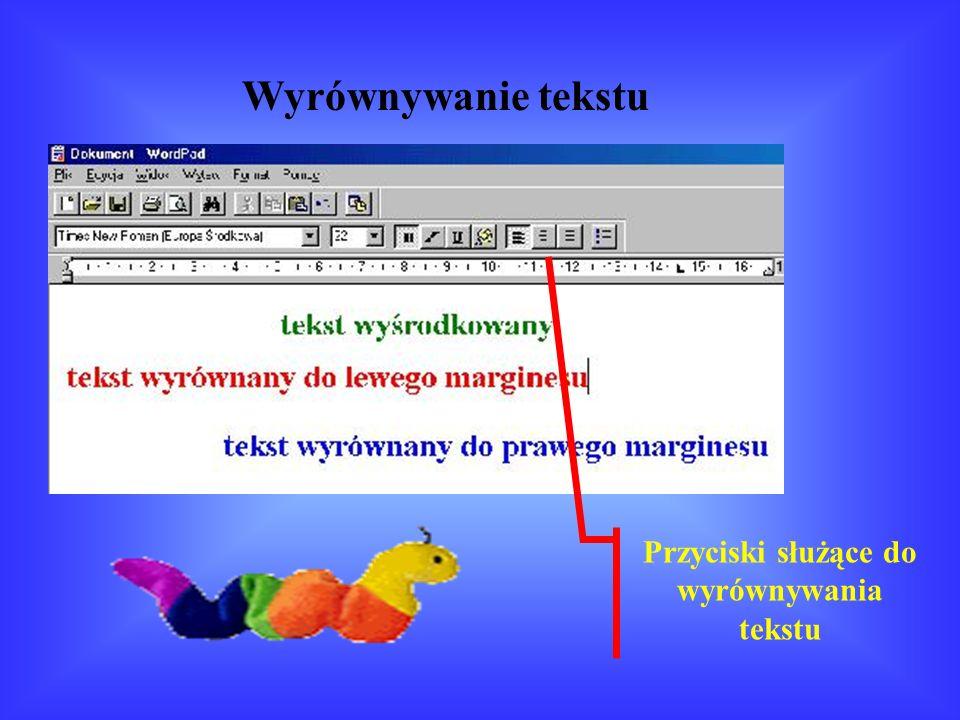 Pogrubienie, pochylenie, podkreślenie tekstu Przyciski pogrubienia, pochylenia i podkreślenia tekstu