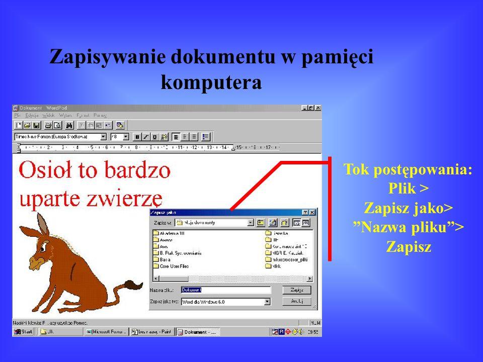 Wstawianie rysunków do dokumentu programu WordPad Rysunek z Galerii Clipardów