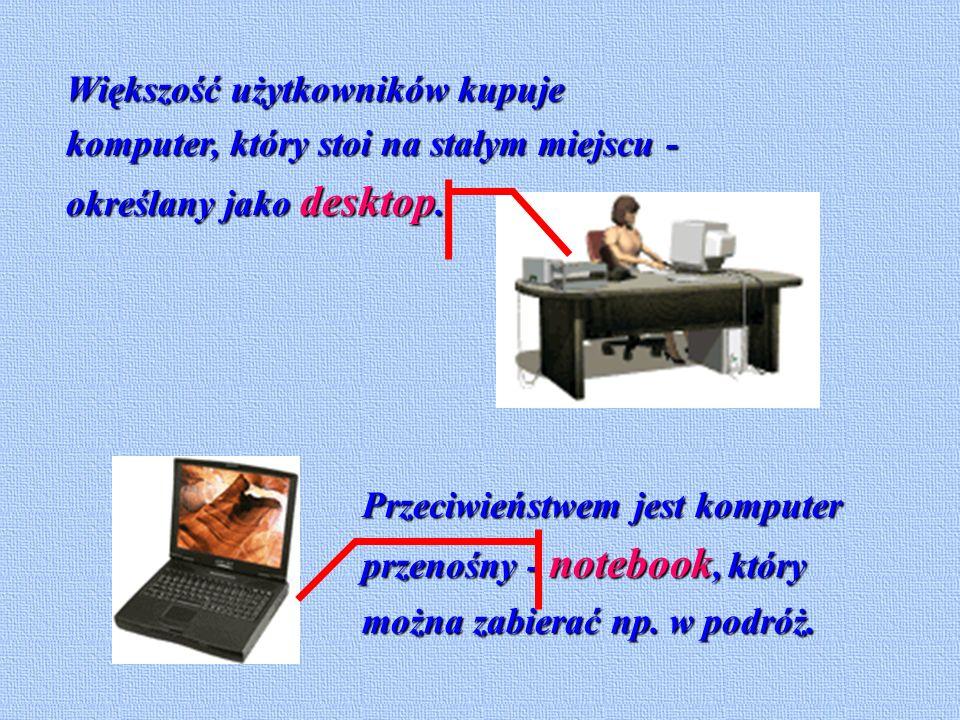 W pełni działający komputer składa się z dwóch grup elementów, sprzętu i oprogramowania. Elementami sprzętowymi są te części komputera, które można zo
