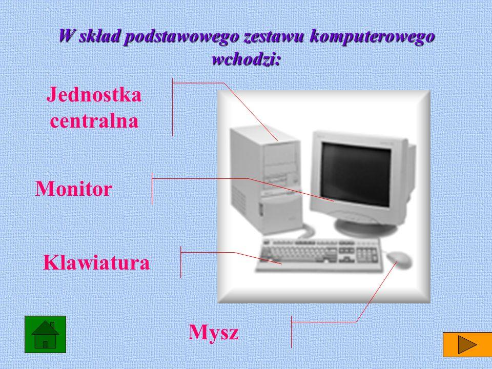 Do dodatkowych elementów należą tak zwane urządzenia peryferyjne, takie jak drukarka. skaner, modem. drukarka skaner modem