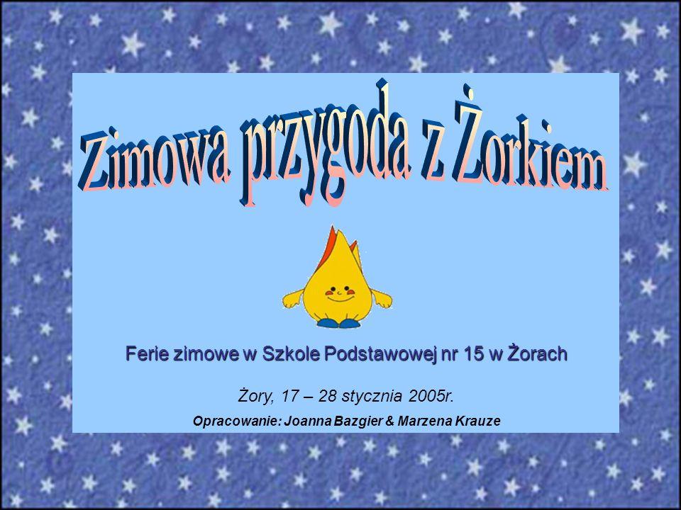 Ferie zimowe w Szkole Podstawowej nr 15 w Żorach Żory, 17 – 28 stycznia 2005r. Opracowanie: Joanna Bazgier & Marzena Krauze