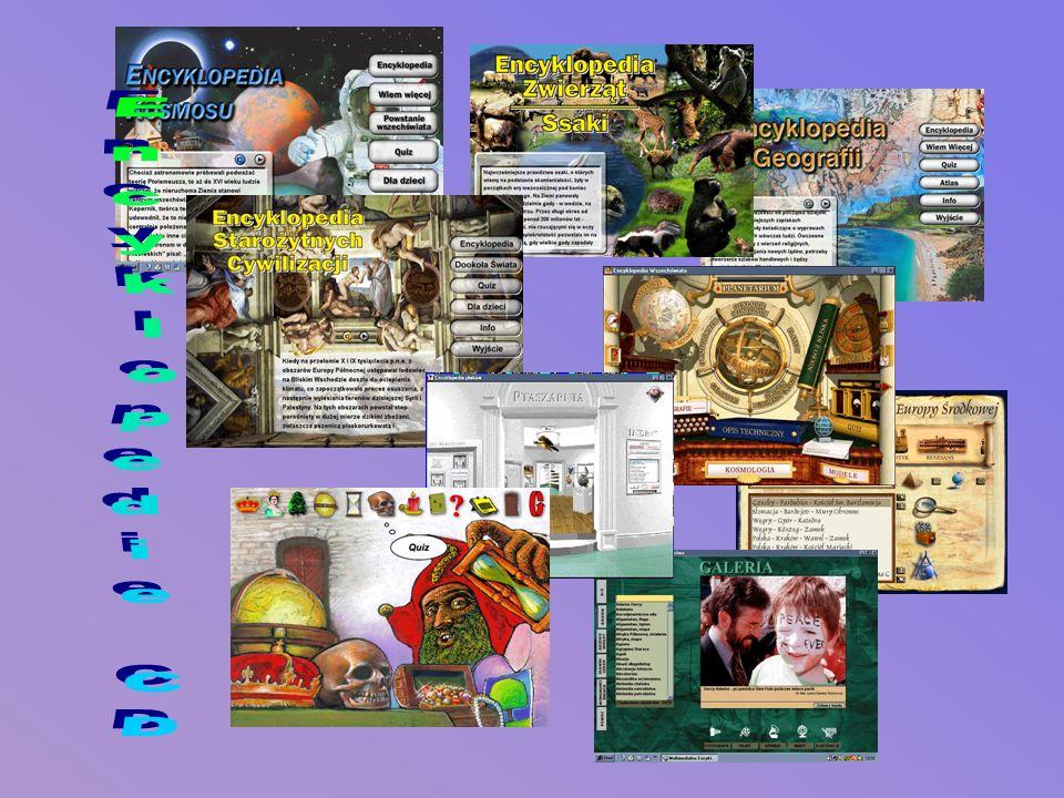 BY WIĘCEJ WIEDZIEĆ Dzięki encyklopediom na CD-ROM-ach można uczyć się w bardzo atrakcyjny sposób. Teksty, zdjęcia i grafikę nie tylko da się wydrukowa