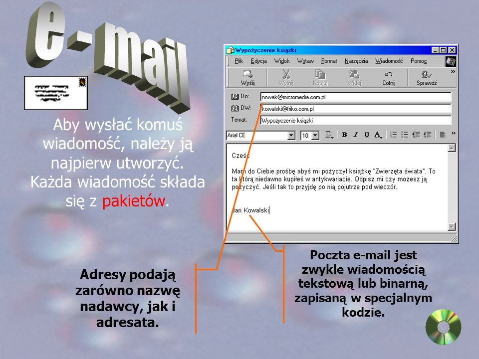 Proste operacje powodują wyświetlenie strony w przeglądarce Internet Explorer.