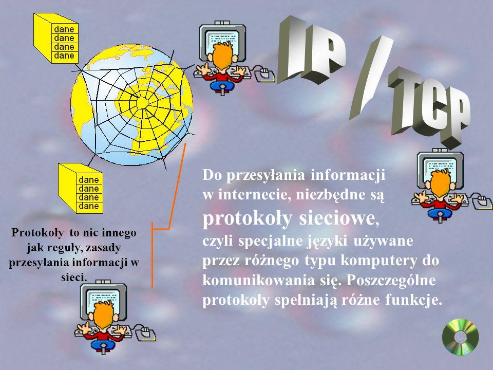 Serwery internetowe to komputery gromadzące dane i udostępniające je innym użytkownikom sieci, mogą znajdować się w odległych miastach lub krajach.