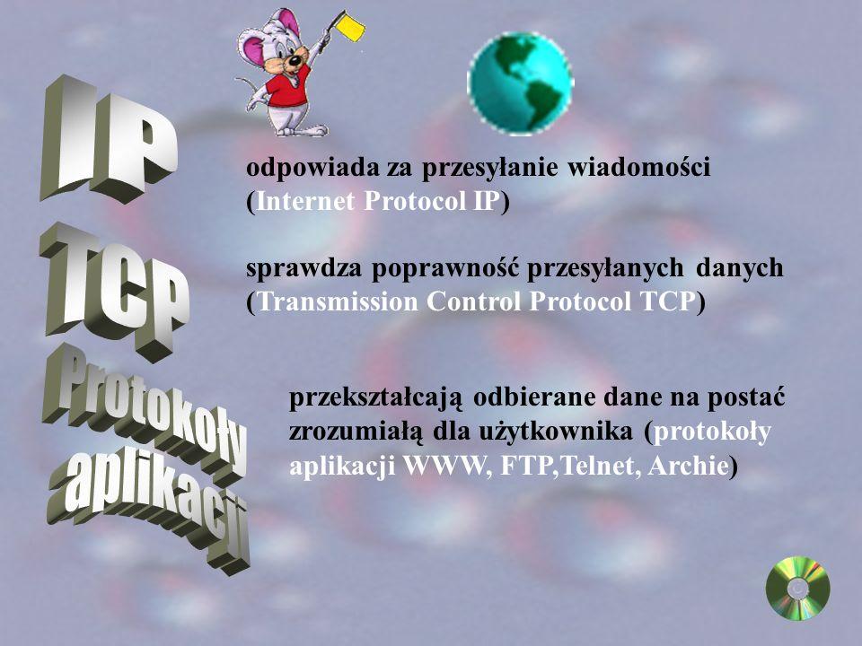 Do przesyłania informacji w internecie, niezbędne są protokoły sieciowe, czyli specjalne języki używane przez różnego typu komputery do komunikowania