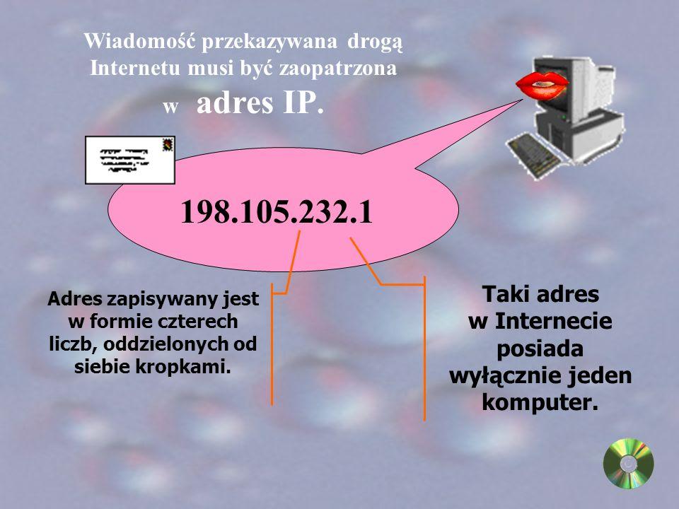 www oznacza, że jest to adres strony w Sieci WWW disney to nazwa indywidualna strony w Sieci WWW com określa typ strony (np.