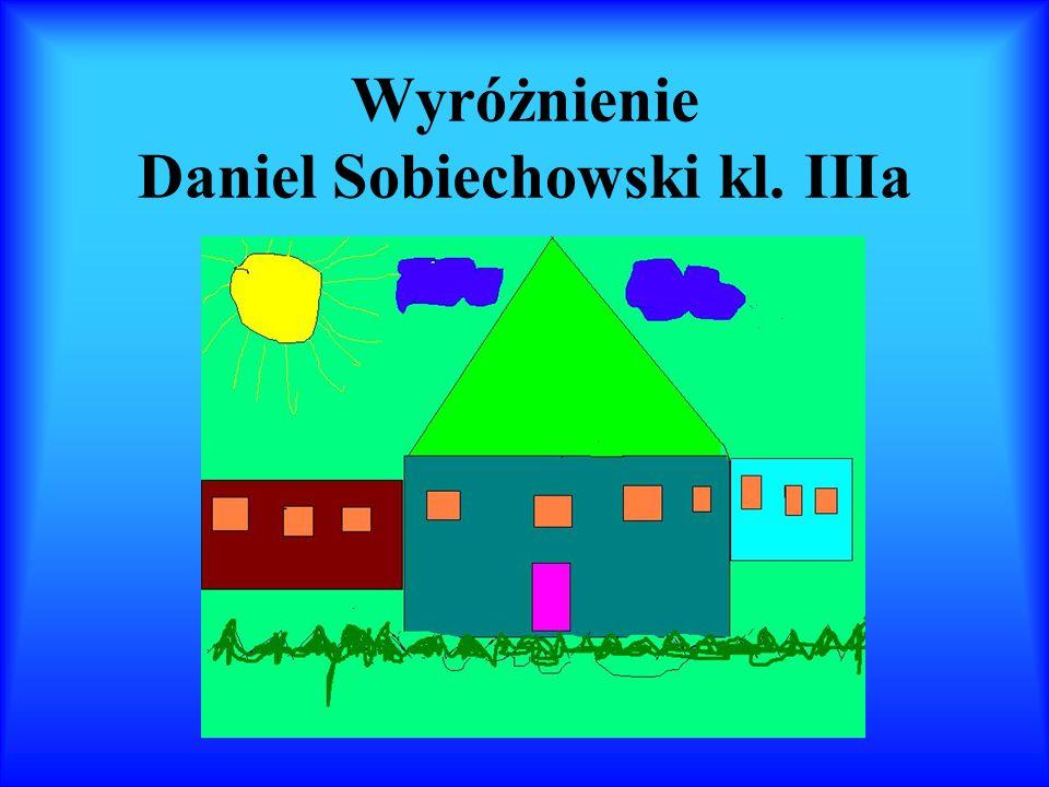 Wyróżnienie Daniel Sobiechowski kl. IIIa