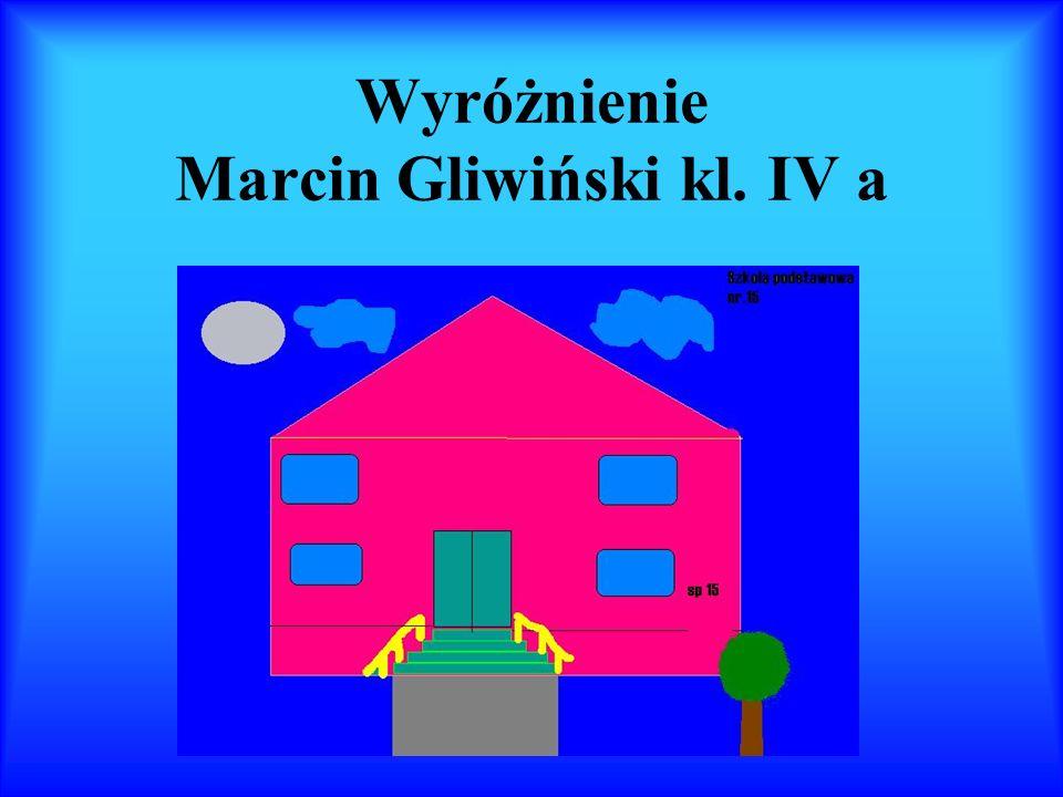Wyróżnienie Marcin Gliwiński kl. IV a