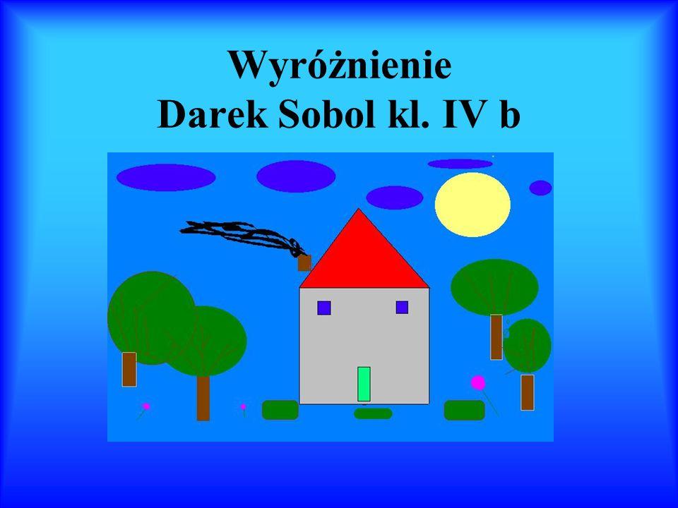 Wyróżnienie Darek Sobol kl. IV b