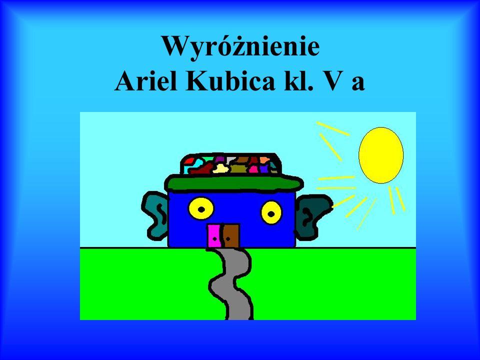 Wyróżnienie Ariel Kubica kl. V a