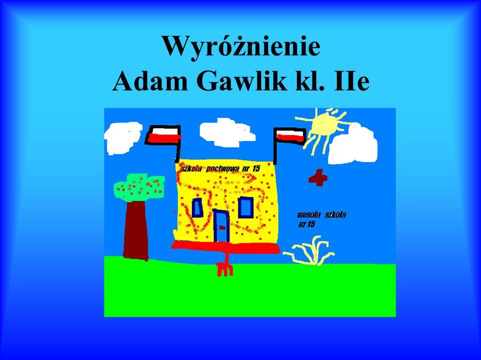 Wyróżnienie Adam Gawlik kl. IIe