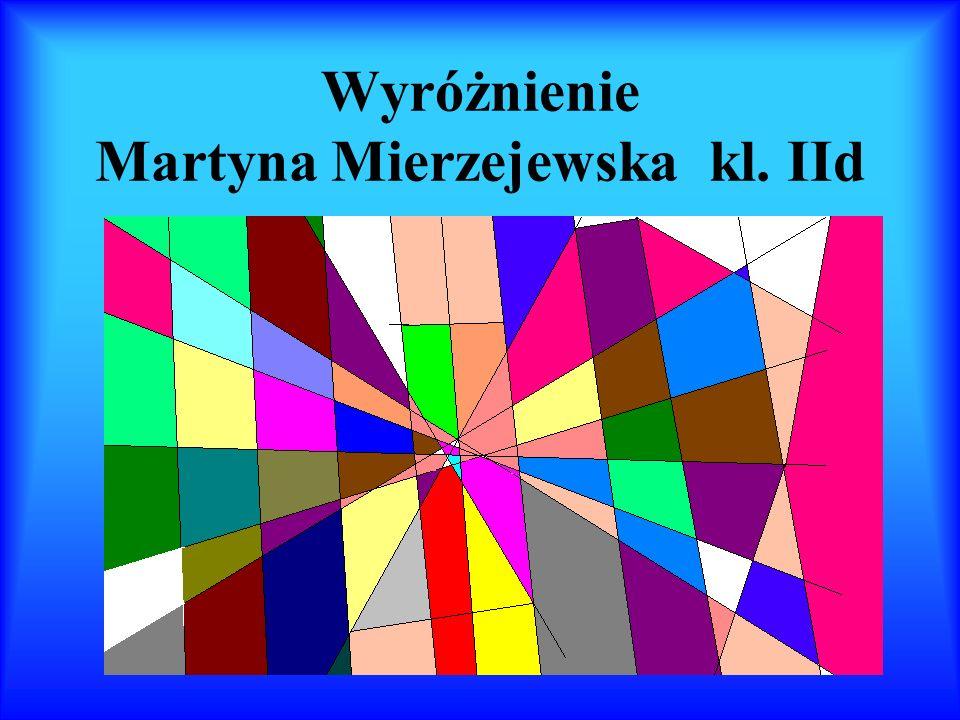 Wyróżnienie Weronika Szlaga i Magda Kin kl. V b