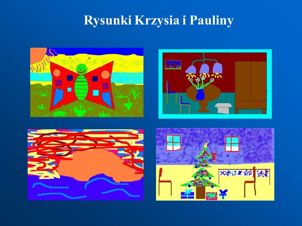Prace wykonane w programie Paint mogą stanowić ilustracje do tekstu napisanego w dowolnym edytorze tekstowym.
