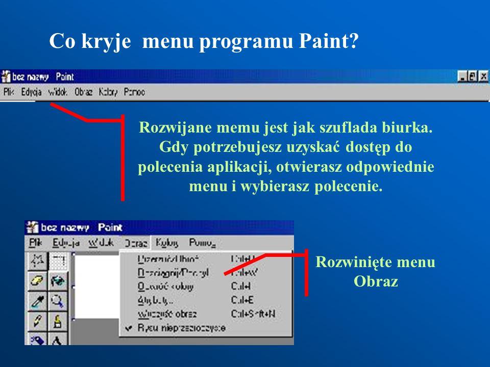 Jak uruchomić program Paint? Start Programy Akcesoria Paint
