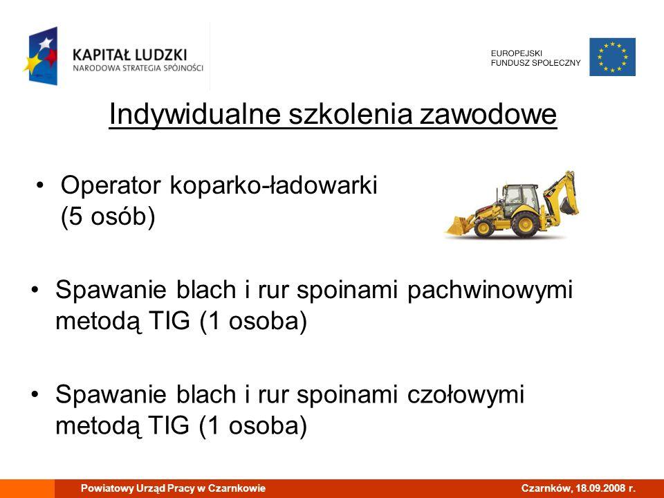 Powiatowy Urząd Pracy w CzarnkowieCzarnków, 18.09.2008 r. Budżet projektu: 50 000,00 PLN, z czego: