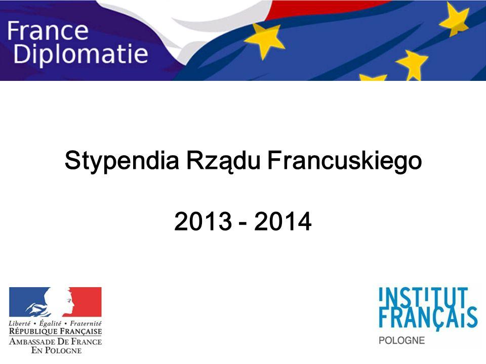 Stypendia Rządu Francuskiego 2013 - 2014