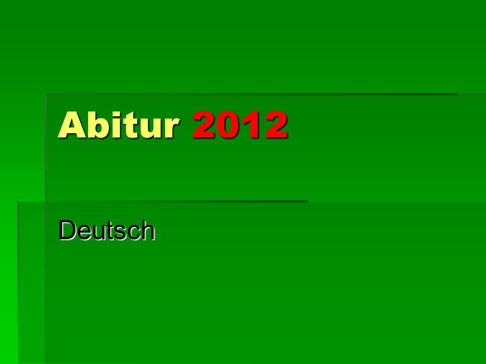 Abitur 2012 Deutsch