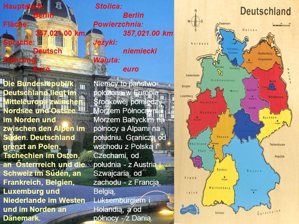 die deutschsprachigen Länder (Kraje niemieckojęzyczne) das Fürstentum Liechtenstein (Liechtenstein) Die Schweiz (Szwajcaria) die Republik Österreich (