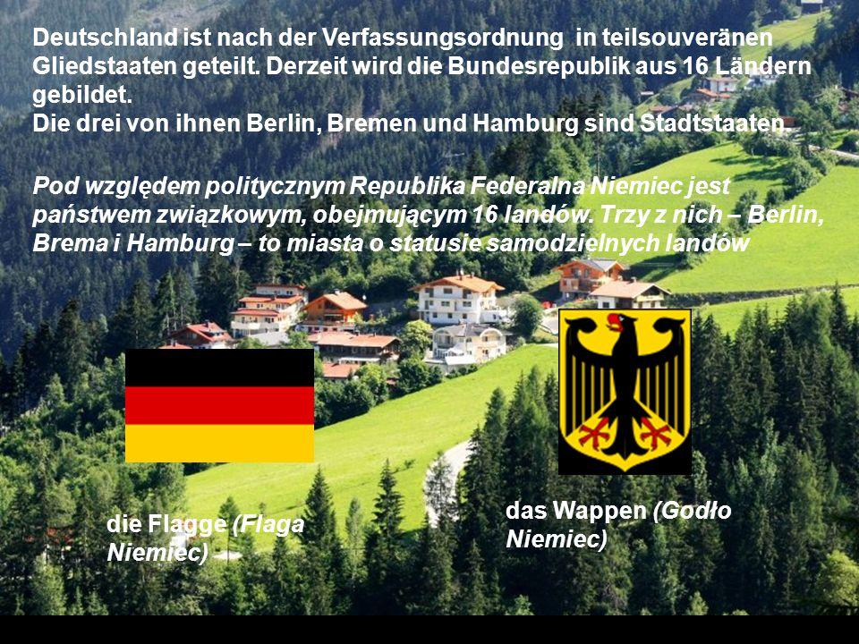 Hauptstadt: Berlin Die Hauptstadt von Deutschland ist Berlin. Berlin bietet viele kulturelle Atraktionen und Sehenswürdigkeiten an. Wir können da Muse