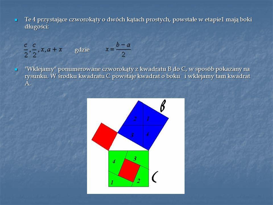 Te 4 przystające czworokąty o dwóch kątach prostych, powstałe w etapie1 mają boki długości: Te 4 przystające czworokąty o dwóch kątach prostych, powst