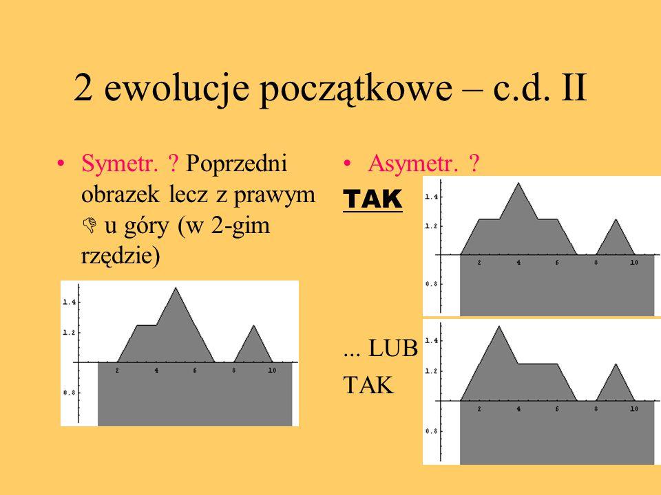 2 ewolucje początkowe – c.d. II Symetr.