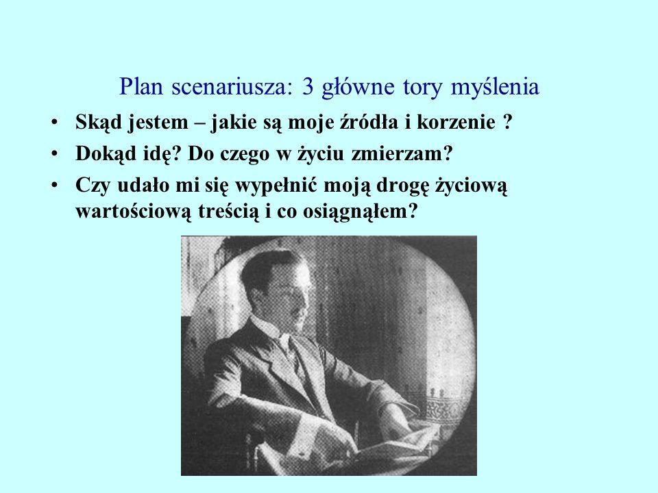 Plan scenariusza: 3 główne tory myślenia Skąd jestem – jakie są moje źródła i korzenie .