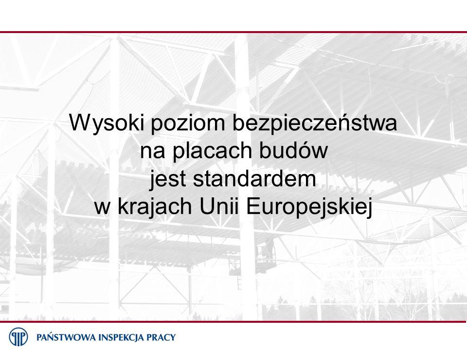 Wysoki poziom bezpieczeństwa na placach budów jest standardem w krajach Unii Europejskiej