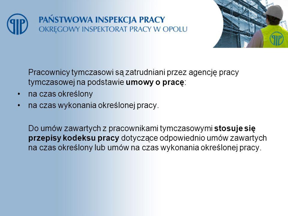 Agencje objęte kontrolami faktycznie świadczyły usługi w zakresie: pośrednictwa pracy na terytorium RP- 5 podmiotów pośrednictwa do pracy za granicą u pracodawców zagranicznych obywateli polskich – 16 podmiotów doradztwa personalnego - 10 podmiotów poradnictwa zawodowego - 3podmioty pracy tymczasowej -12 podmiotów