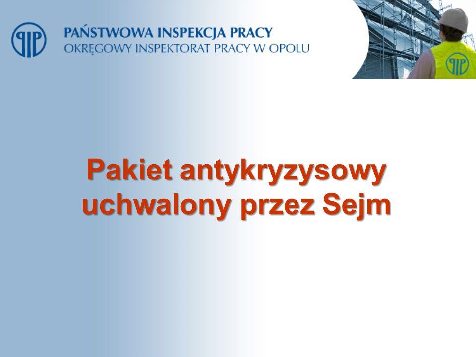 Pakiet antykryzysowy uchwalony przez Sejm