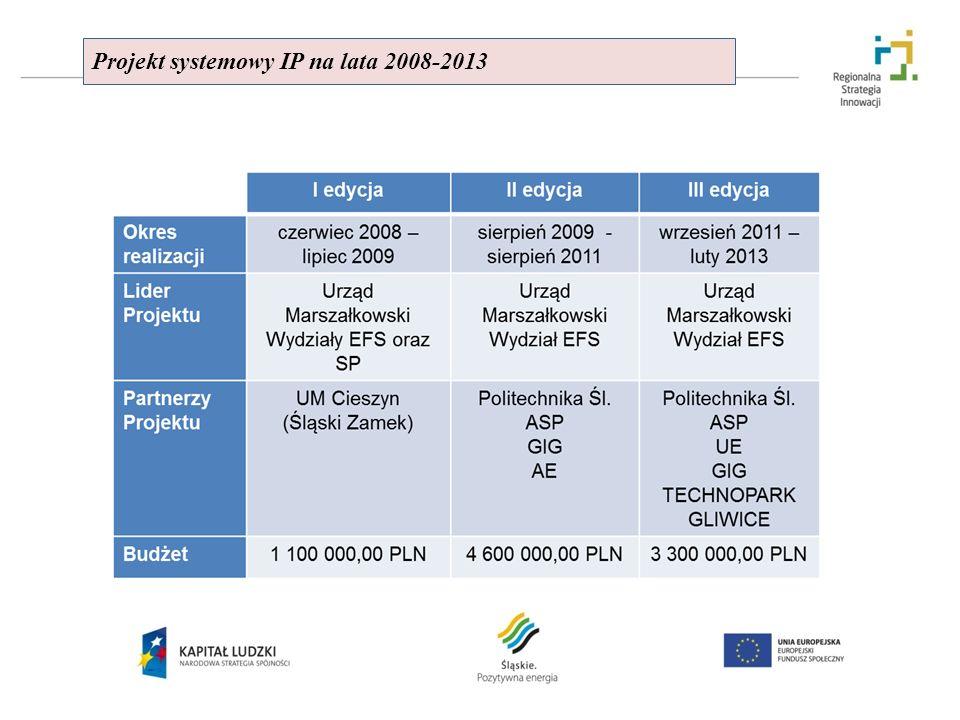 Projekt systemowy IP na lata 2008-2013