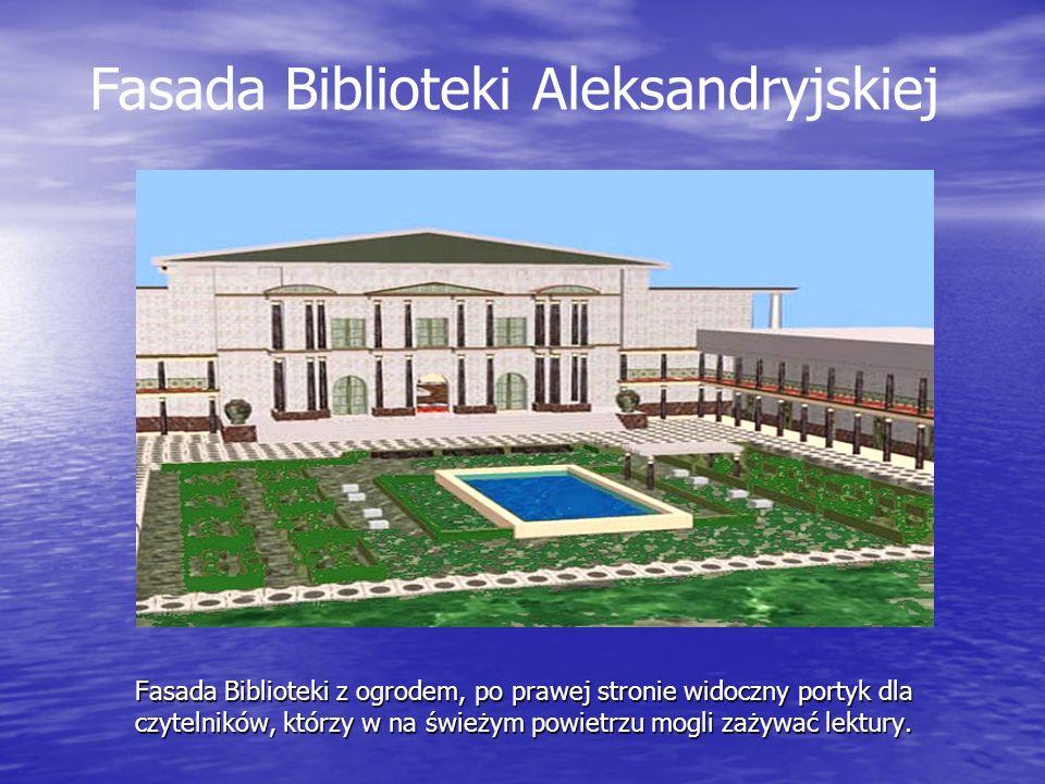 Biblioteka Aleksandryjska - dawniej Celem Ptolemeuszy było stworzenie z Aleksandrii naukowej i kulturalnej stolicy ówczesnego świata, w myśl zasady: wiedza równa władzy.