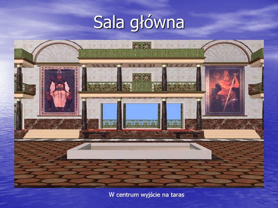 Sala główna W centrum wyjście na taras