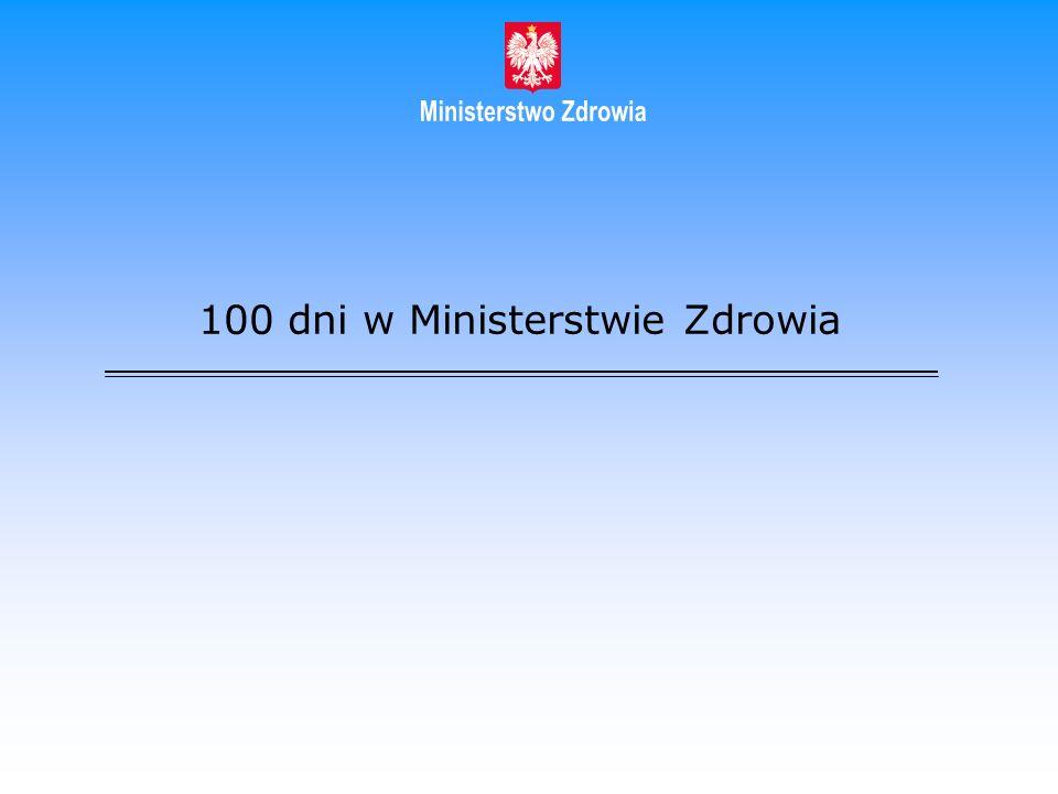 100 dni w Ministerstwie Zdrowia