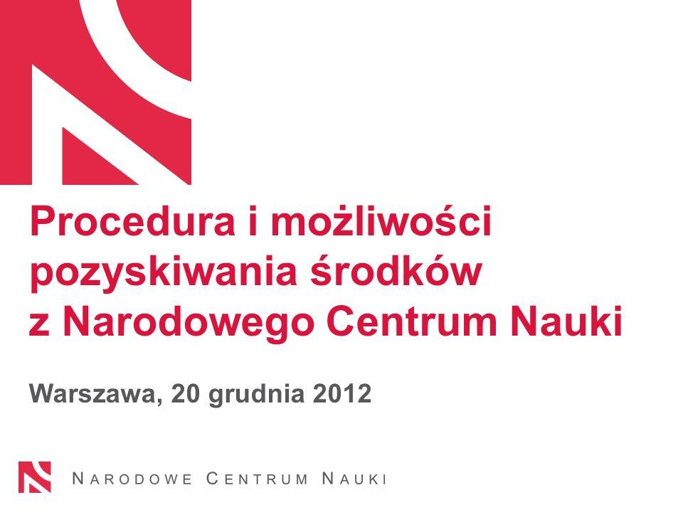 Plan prezentacji NCN informacje podstawowe Konkursy NCN Nauki medyczne w NCN 2